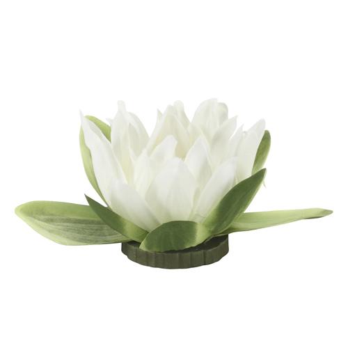 Seerose PARI weiß schwimmende Gartenteichdekoration Wasser Deko Blume