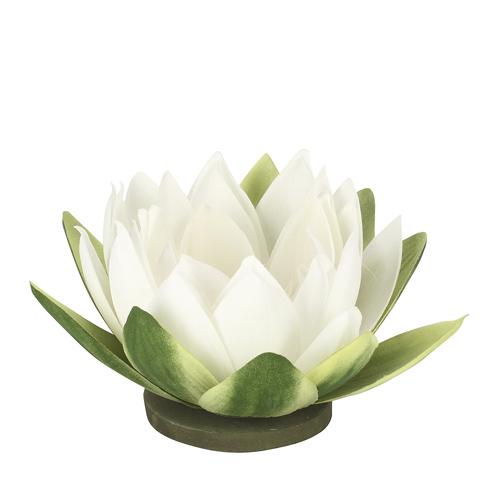 Seerose SORA weiß schwimmende Gartenteichdekoration Wasser Deko Blume