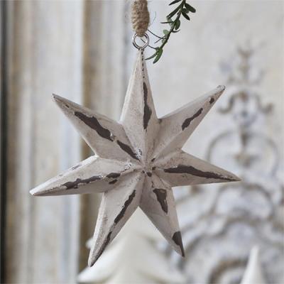 Serviettenring Kordel Quaste Anhänger Stern Adventsdeko Weihnachten Shabby Chic