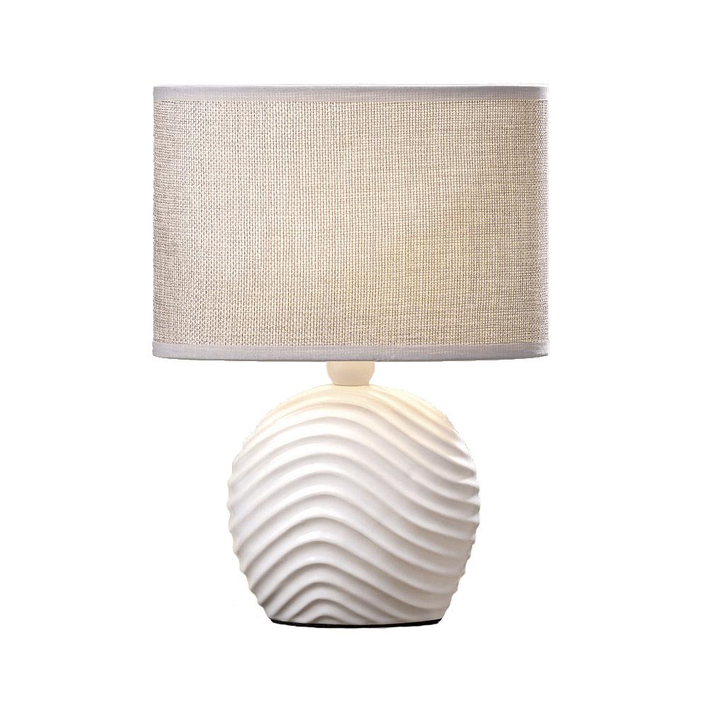 kleine tischlampe strandd ne wei beige h28cm maritimes. Black Bedroom Furniture Sets. Home Design Ideas