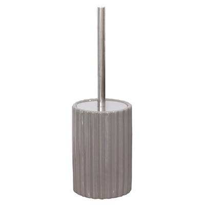 Toilettenbürste JETTY grau braun ecru Toilettenbürstenhalter mit breiten Rillen