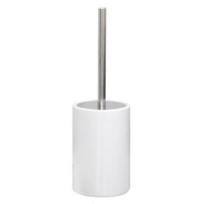 Toilettenbürste MERET weiß Toilettenbürstenhalter modern Ziegelwand Mauer modern