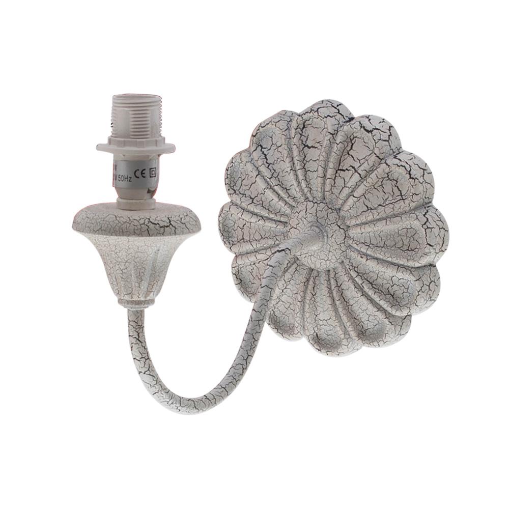 Rustikale Wandleuchte Shabby Braun Beige E14 Lampe Wand: Wandlampe MARGARETHE Antik Creme Shabby Chic Wandleuchte
