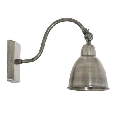 Wandlampe ANTIK silber antiksilber im Landhausstil shabby chic Lampe Badlampe