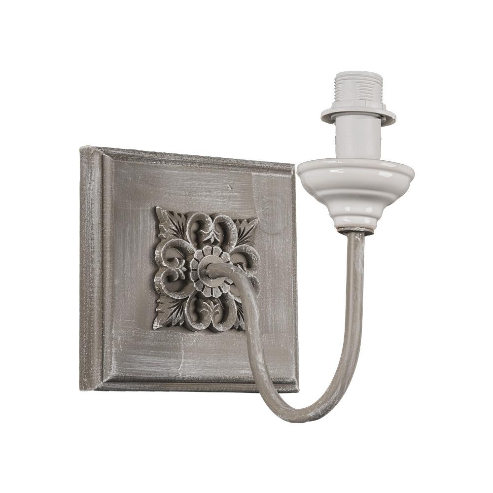 Rustikale Wandleuchte Shabby Braun Beige E14 Lampe Wand: Wandlampe ADELE Braun Antik Weiß Im Landhausstil French