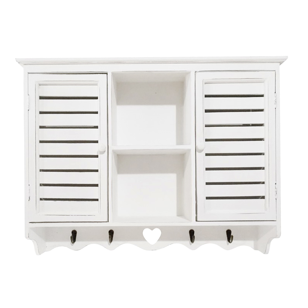 wandschrank bay shore wei shabby chic h ngeschrank used look schrank. Black Bedroom Furniture Sets. Home Design Ideas