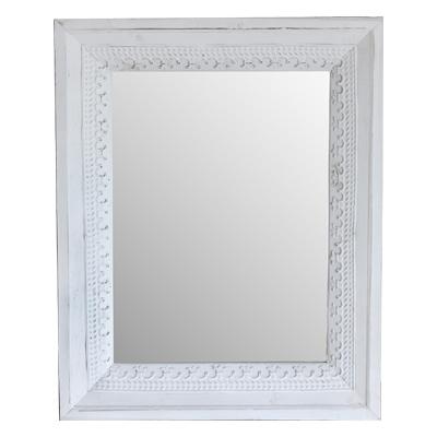 Wandspiegel MARRAKECH weiß aus Holz mit Metallverzierung Spiegel orientalisch