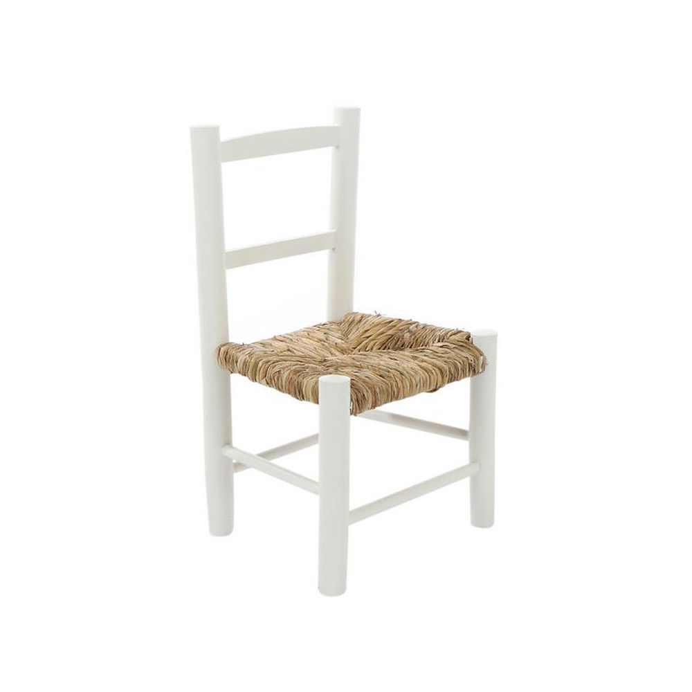 2tlg kinderstuhl lotta wei aus holz mit binsengeflecht stuhl landhaus schweden. Black Bedroom Furniture Sets. Home Design Ideas